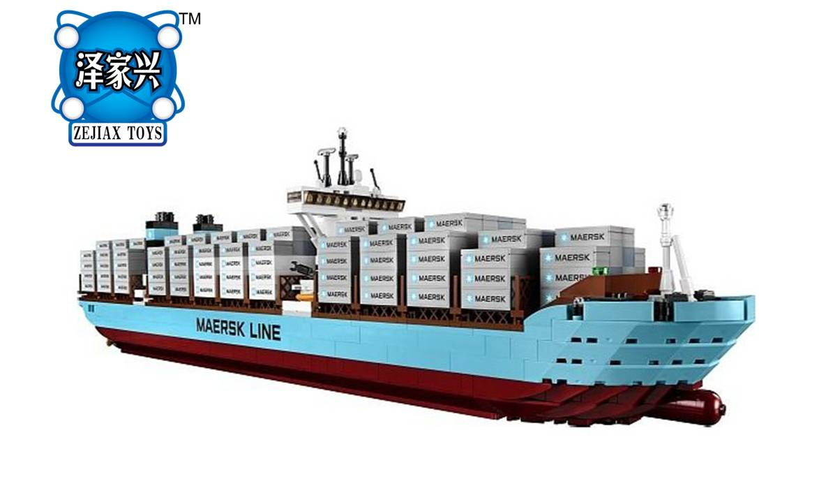 New Genuine Technic Series The Maersk Cargo Container Ship Set  Building DIY Blocks Bricks Figure Lepines Kid Educational Toys lepin 22002 1518pcs the maersk cargo container ship set educational building blocks bricks model toys compatible legoed 10241