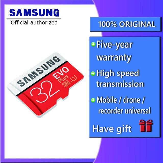 100% оригинальный SAMSUNG карта памяти Micro SD card 64 Гб карты памяти EVO Plus microsd 128 ГБ microsdxc Class10 карты памяти 32 Гб microSDHC UHS-1