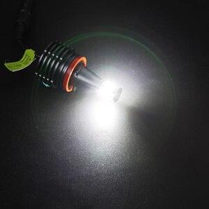 Image 5 - 2 adet araba melek gözler araba ışık far lambası beyaz sis farları H8 farlar LED Canbus ücretsiz BMW E90 e92 E82 E70 X5 E71 X6