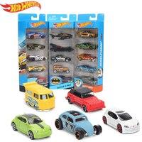 Original 5 pçs/caixa Hotwheels Mini Car Model Collection Brinquedos Hot Wheels 1: 64 Diecast Carros Velozes e Furiosos Liga Carros esportivos 1806