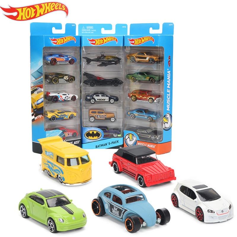 Original 5pcs/box Hotwheels Mini Car Collection Model Toys
