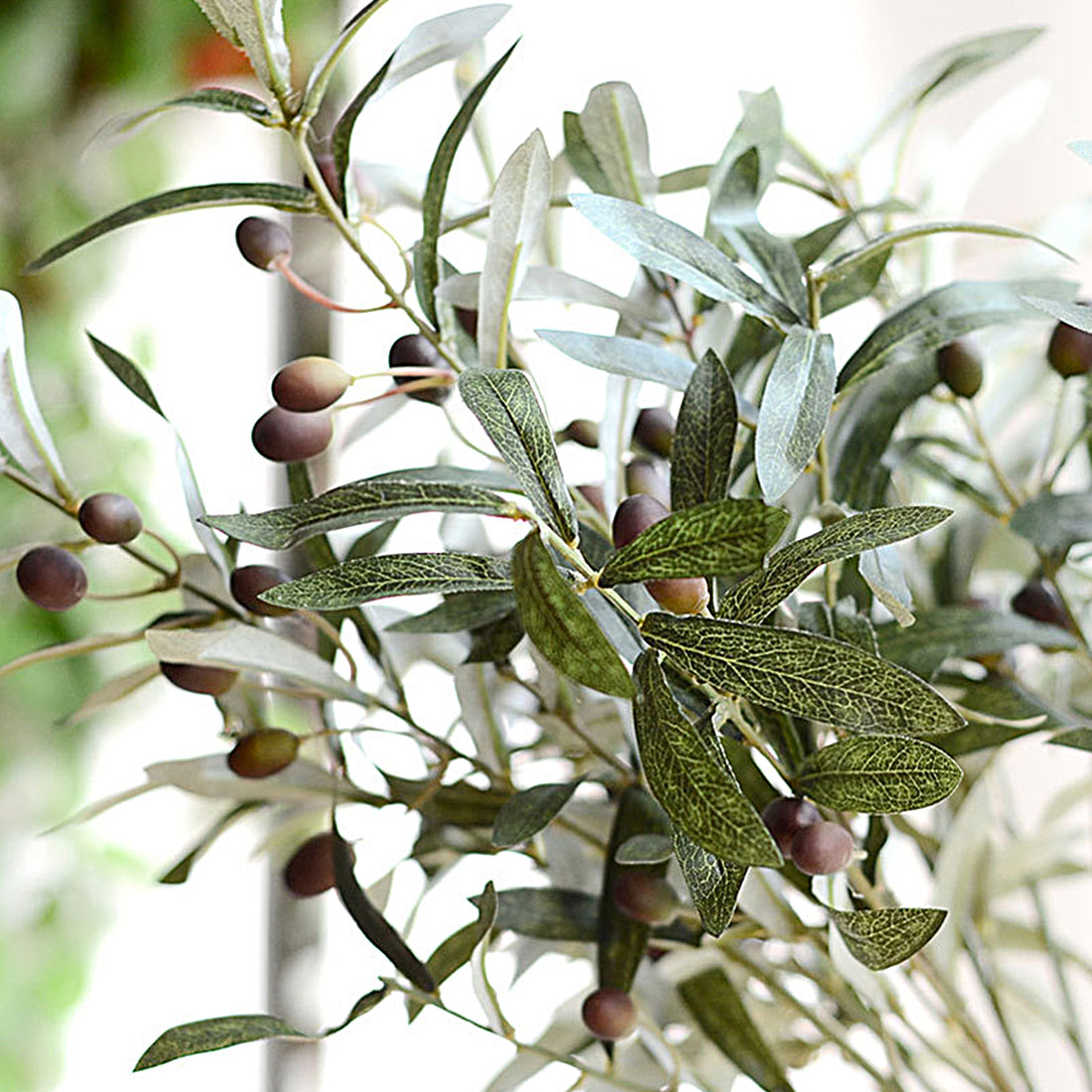 Gift Olive Leaf 72cm Vivid Artificial Flowers Plant Home and Garden Decoration Gift ...
