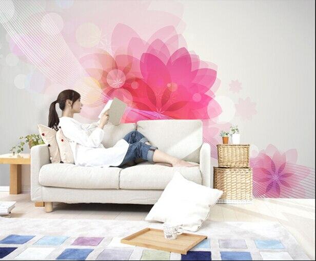 The latest custom 3D murals,simple fantasy flowers, living room sofa ...