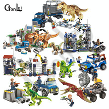 NEW 10925 Jurassic Parked Blues Helicopter Pursuit Bricks Compatible with Jurassic Worlds Model Building Block DIY Toys