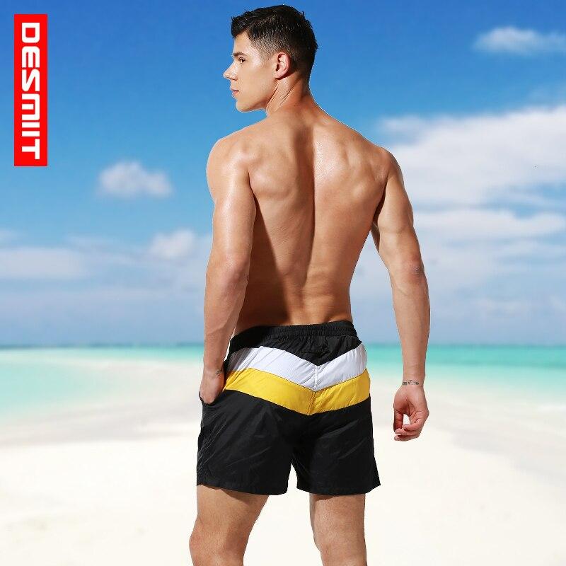 Desmiit Fast Dry Man Swimming   Shorts   Summer Striped Beach Bermuda Surf Men's   Board     Shorts   Athletic Sport Running Gym   Shorts