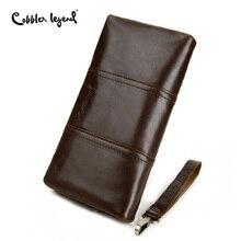 Cobbler lenda longas carteiras zíper bolsa da moeda para homens embreagem negócios masculino carteira zíper do vintage grande carteira titular do cartão bolsa