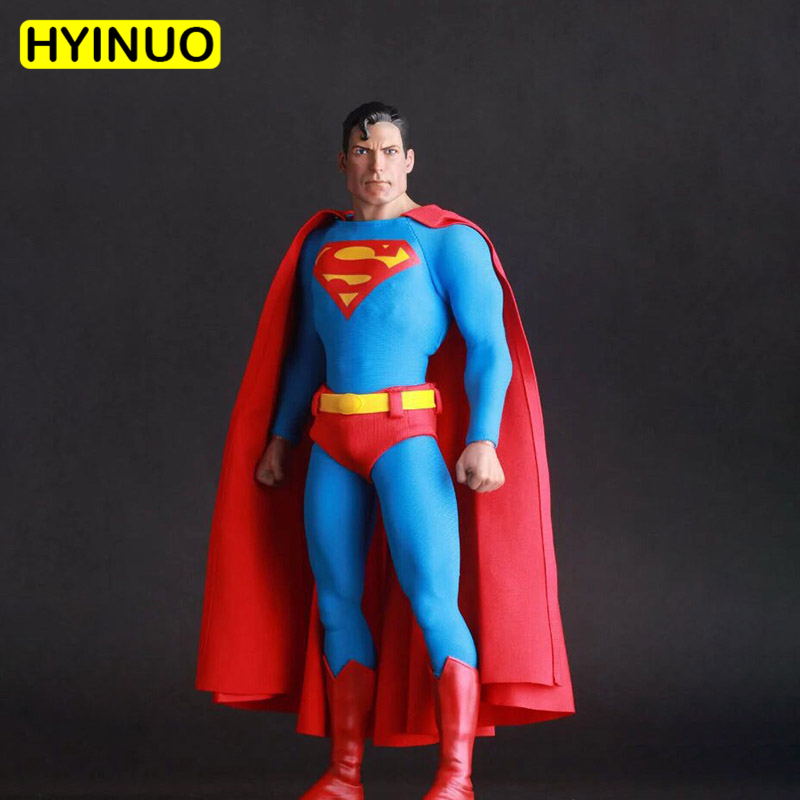 1 6 Scale Justice League Red Superman Action Figure Christopher Reeve Full Set Doll Model Toys