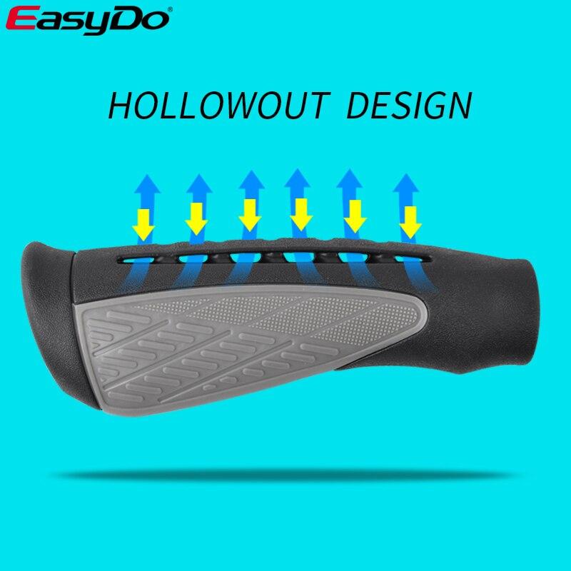 EasyDo Высокое качество MTB ручки резиновые ручки эргономичный дизайн противоскользящие хорошая воздухопроницаемость велосипедные ручки аксе...