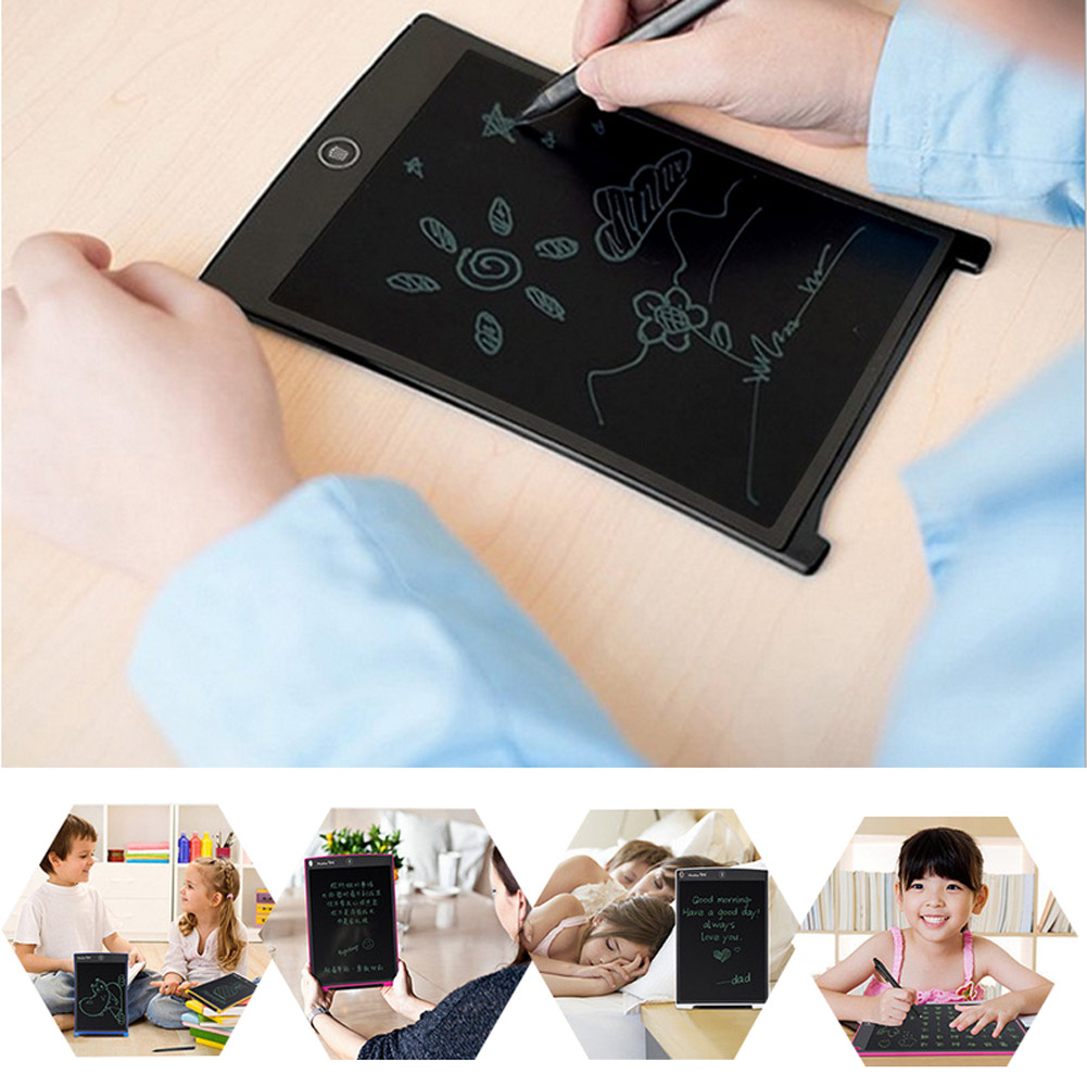 8.5/12 Inch Portable LCD Handwriting Board With Pen Electronic Writing  for Pad Drawing Tablet Notepad For Home Office QJY99