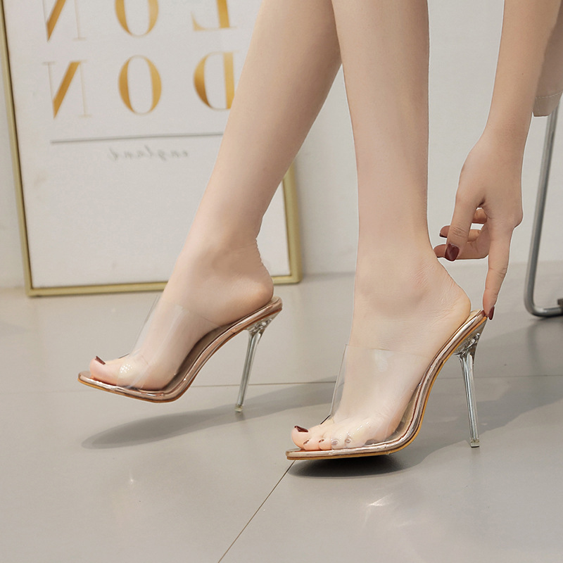 Mujeres Más Moda Cristal Mujer 11 Señoras Alta 2019 Zapatillas Tacón Leopardo Zapatos Cm blanco Grande De Mulas Femenina Las Tamaño Leopard Bombas PgOAqxAnT