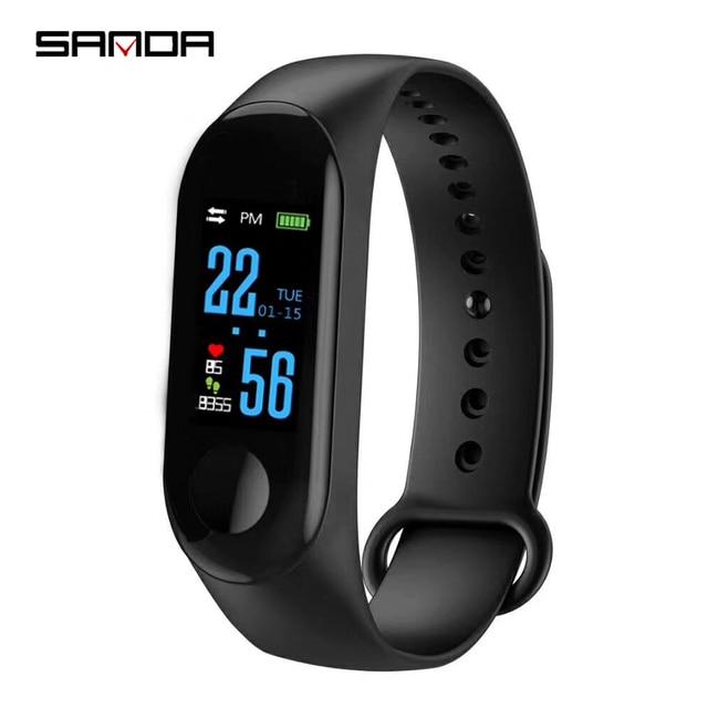 fe7ab84f2 SANDA M3 Bluetooth Smart Watch Color Screen Men Sports Watches Women  Intelligent Health Bracelet Wristwatch for
