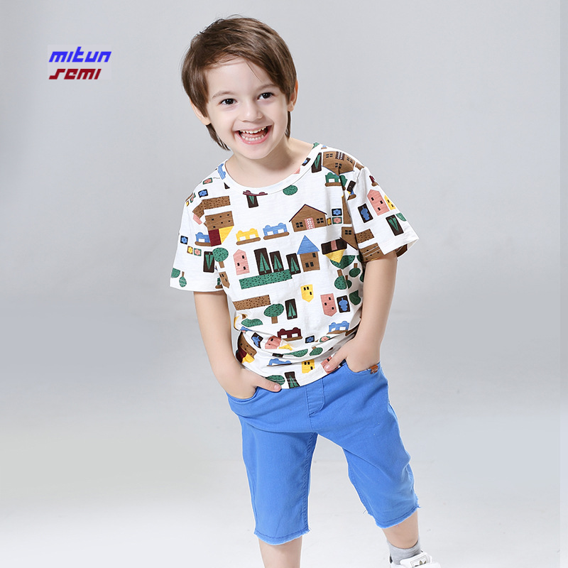 2017 Summer New Casual Boys Sportswear Clothing Children Shorts+pant Two Pieces Suit Korean Sport Suit Girls Kids Sets 2016 kids summer boys short suit children sportswear big boy two sets of tee set