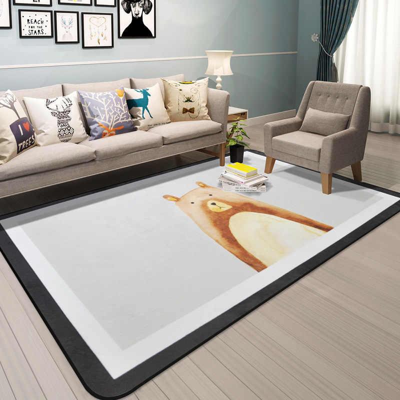 Nordic Carpet Cartoon C Velvet Rugs
