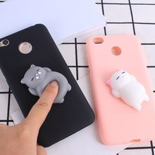 Squishy 3D Phone Case For Xiaomi Redmi 4X Soft Silicone Panda Cartoon Cover For Redmi 4X 4A 4 Pro Note 4 Note 4X Case Funda Capa