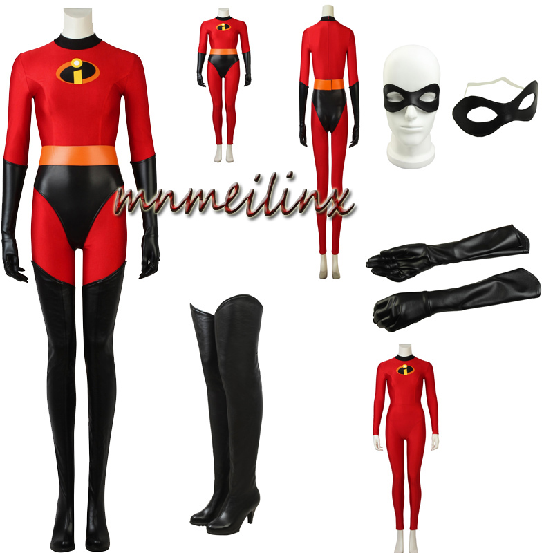 NEW ARRIVAL Incredibles 2: Helen Parr Cosplay Costume Superhero Elastigirl Costume Halloween Outfit Custom Made