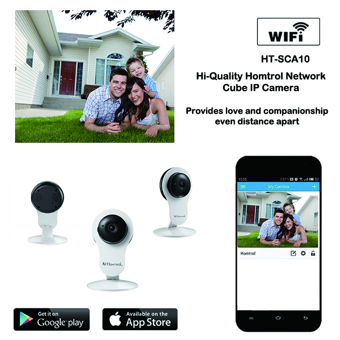 Smart IP Camera with High Clarity Night Vision and Duplex Intercom Support 128GB Micro SD Card