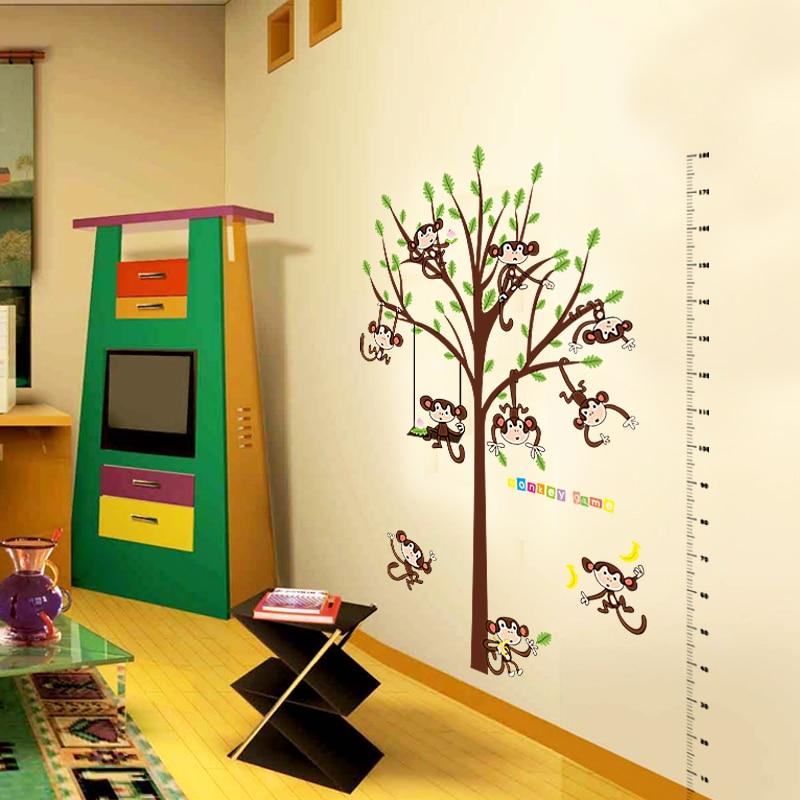 Climbing tree monkey Height Chart Ruler DIY Nursery Furniture ...