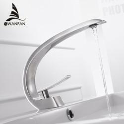 Basin Faucets Modern Bathroom Mixer Tap Brass Washbasin Faucet Single Handle Single Hole Elegant Crane For Bathroom LH-16990
