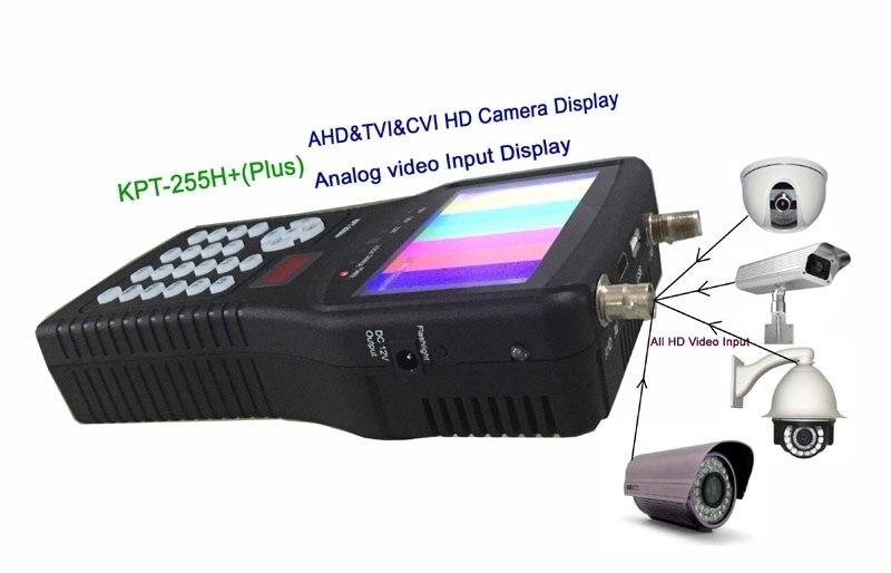 [Genuine] KPT 255H+ AHD TVI CVI DVB S2 Digital Satellite Finder Meter CCTV camera lcd backlight kpt 255h plus button 4.3 inch|satellite finder|satellite finder meter|digital satellite finder - title=