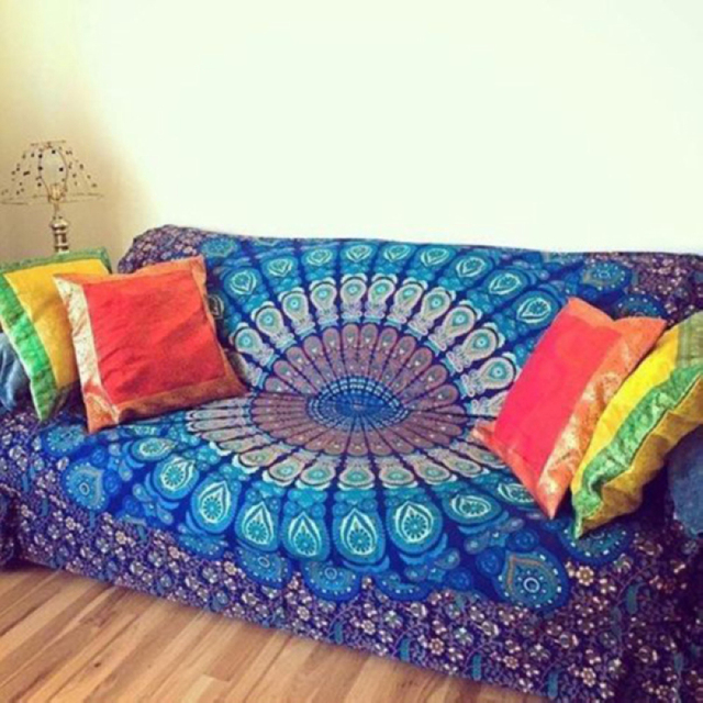 قماش الهبي الهبي الهندي المستطيل الساخن تعلق على الحائط والشاطئ منشفة رمي بساط بطانية اليوجا