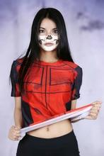 Cool  Superhero Deadpool Sexy Girls Crossfit Short Sleeve T-shirt Female Tee Compression Women 3D Printed Clothing
