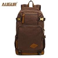 2017 AUGUR New Fashion Men S Vintage Canvas Backpack For Teenage Girls School Bag Travel Large