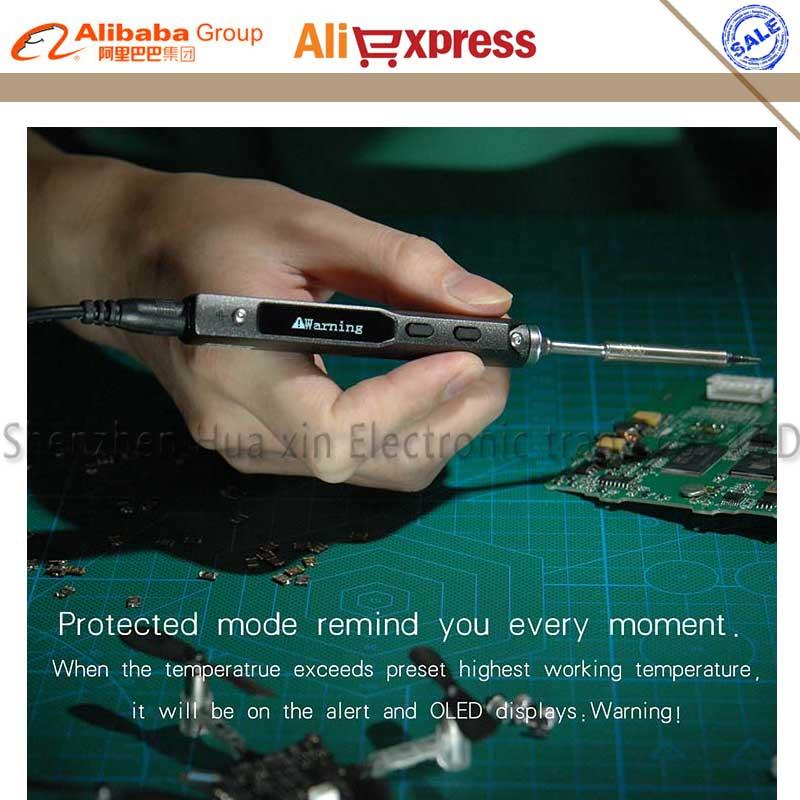 Новый TS100 перо типа мини программируемые Регулируемый цифровой ЖК-дисплей Электрический паяльник паяльная станция ARM MCU