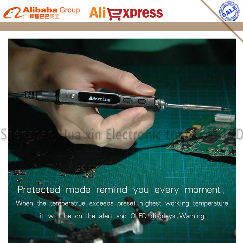NEUE TS100 Stift-typ MINI Programmierbare Smart Einstellbar Digital LCD Elektrische lötkolben lötstation ARM MCU