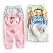 Топ от 9 до 24 месяцев, Хлопковые Штаны для малышей штаны-шаровары для маленьких девочек и мальчиков с героями мультфильмов штаны для младенцев детская одежда для маленьких девочек