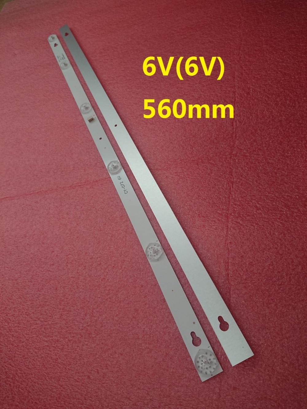 New 10set 20 PCS 6LED 6V 560mm LED backlight strip for L32P1A 4C LB3206 HR03J HR01J