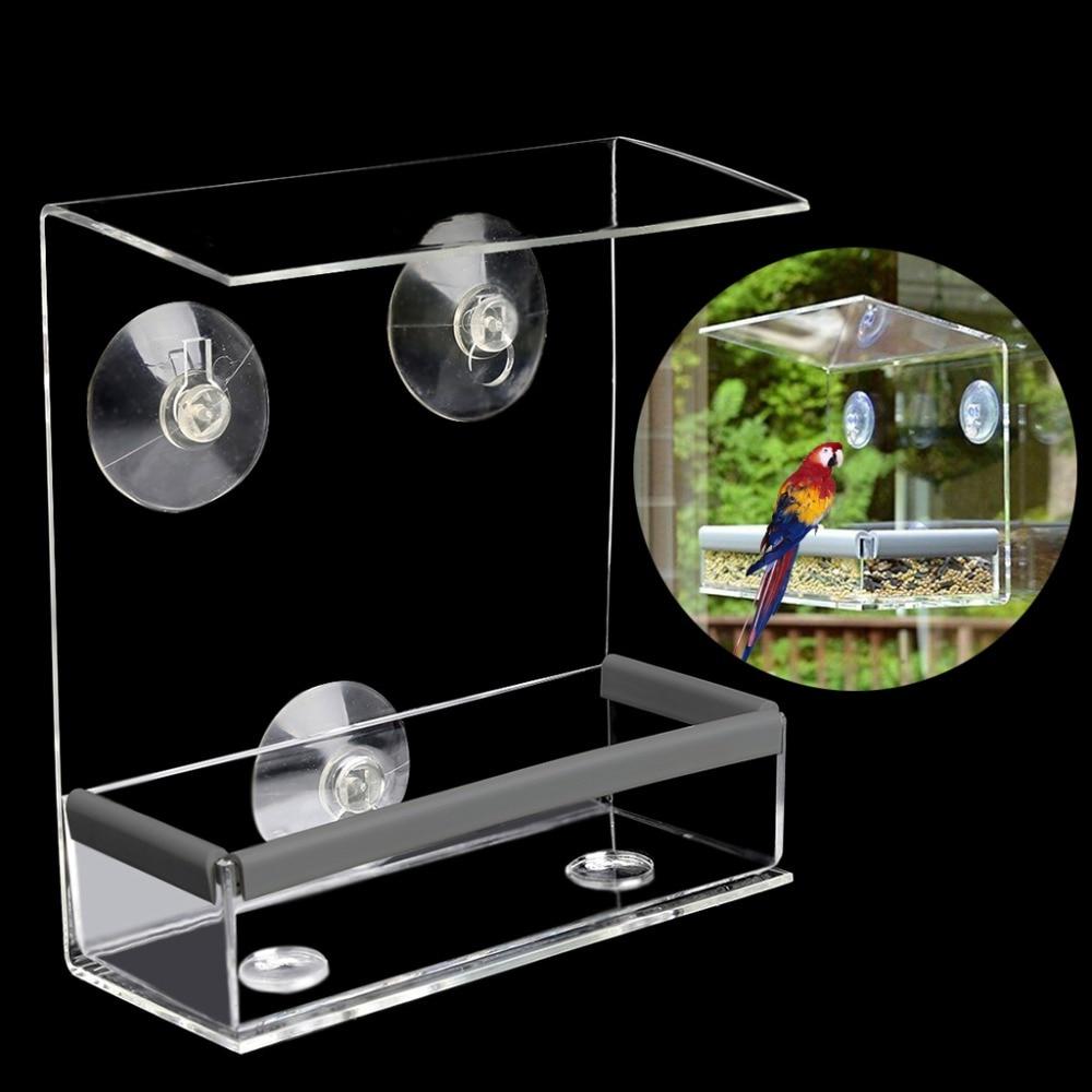 Creative Pet Bird feeder Clear Window Squirrel Proof Bird Fe