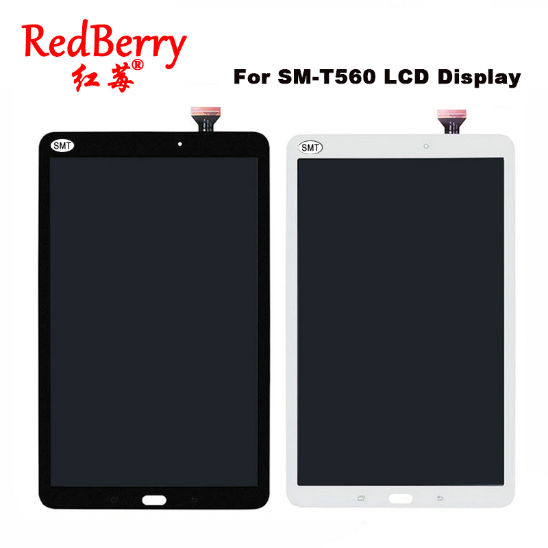 Redberry New For Samsung Galaxy Tab E 9.6 SM-T560 T560 SM-T561 LCD Display Touch Screen Digitizer Matrix Panel Tablet Assembly планшет samsung galaxy tab e sm t561 sm t561nzkaser