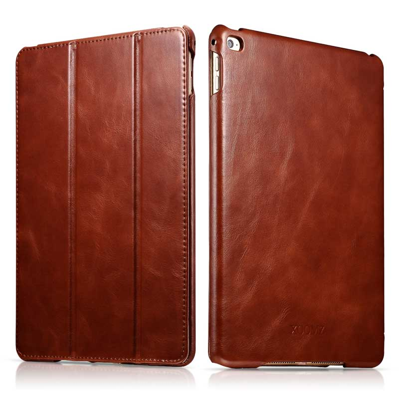 Top Grade Slim Cow Genuine Leather Case for iPad Air2 9 7 Retro Business Real Leather