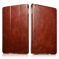 Top Grade Slim Cow Genuine Leather Case for iPad Air2 9.7 Retro Business Real Leather Stand Smart Cover for iPad6 iPad Air2