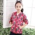 Meninas Do Bebê do algodão à prova de Vento Quente Jaquetas Casaco Criança Crianças Outerwear Para 3-12 T Primavera Outono
