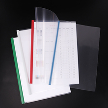 1PC Fashion PVC Thicken A4 File Folder Transparent Plastic Report Cover Document Filing Folder Stationery Office School Supplies