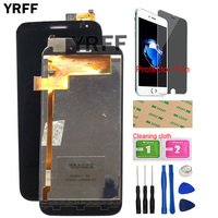 Mobile LCD Display Touch Screen For Explay X5 LCD Display + Touch Screen Digitizer Assembly X5 LCD Display Tools Protector Film