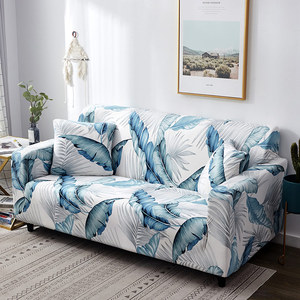 Image 3 - Nordic Leaf Pattern Sofa Cover Cotton Elastic Stretch Couch Cover  Universal Sofa Covers for Living Room Pets Single Home Decor