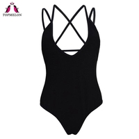 Topmelon Black 2018 Bikini Women S Swimsuits One Piece Suits Bikinis Swimsuits Push Up Biquini Shoulder