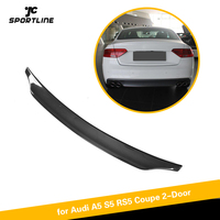 For Audi A5 S5 Sline RS5 2008 2016 Coupe Carbon Fiber Rear Trunk Spoiler Boot Lip Wing Lip