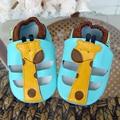 Мультфильм Детские Мальчики Девочки Детская Обувь Тапочки 0-18 Новый Стиль Первые Ходоки Нескользкой Доказательства Натуральная Кожа Дети обувь scarpe neonato