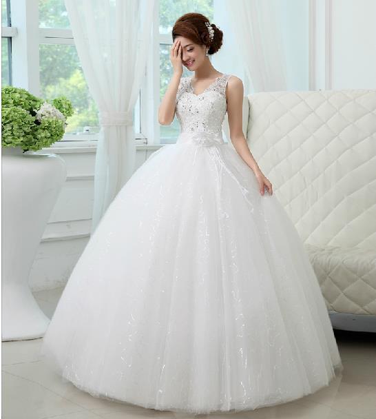 2016 New Korean Straps Lace Wedding Dresses Fashion Princess ...