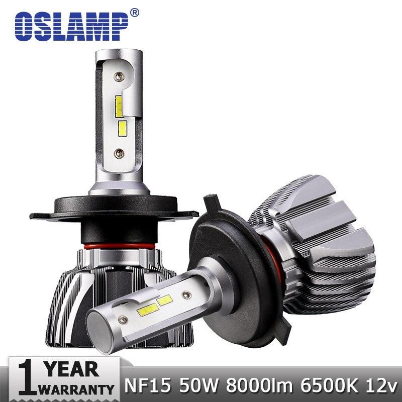 Oslamp H4 Hi-Lo haz H7 H11 H1 H3 9005 9006 LED COCHE faro bombillas 50 W 8000lm CSP chips 12 V 24 V Auto faro bombilla Led