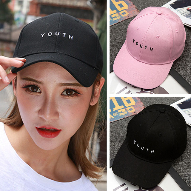 a120b5a2fa5 Women s Baseball Cap New Fashion 2018 Youth Embroidery Baseball Cap hats  casquette Snapback Black White pink