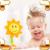 Nueva Llegada de Girasol Regalo Baby Shower Divertido de Dibujos Animados Juguetes de Baño Aerosol Máquina de Juego Fácil de Verano Agua Escarceos Iluminación Juego