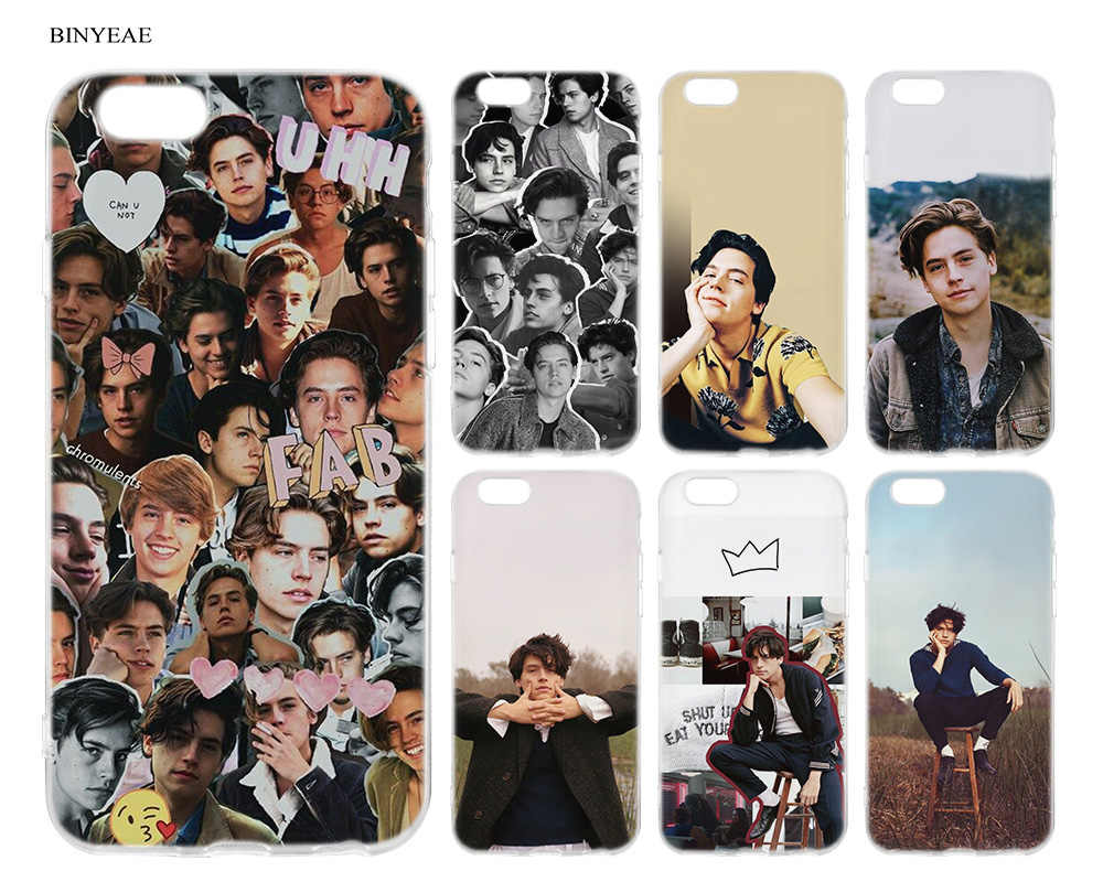 BINYEAE Soft TPU Silicone Case Coque for iPhone SE 7 8 6 6S 5 5S 5C Plus Cole Sprouse Vintage Case for iPhone X XS XR XS Max
