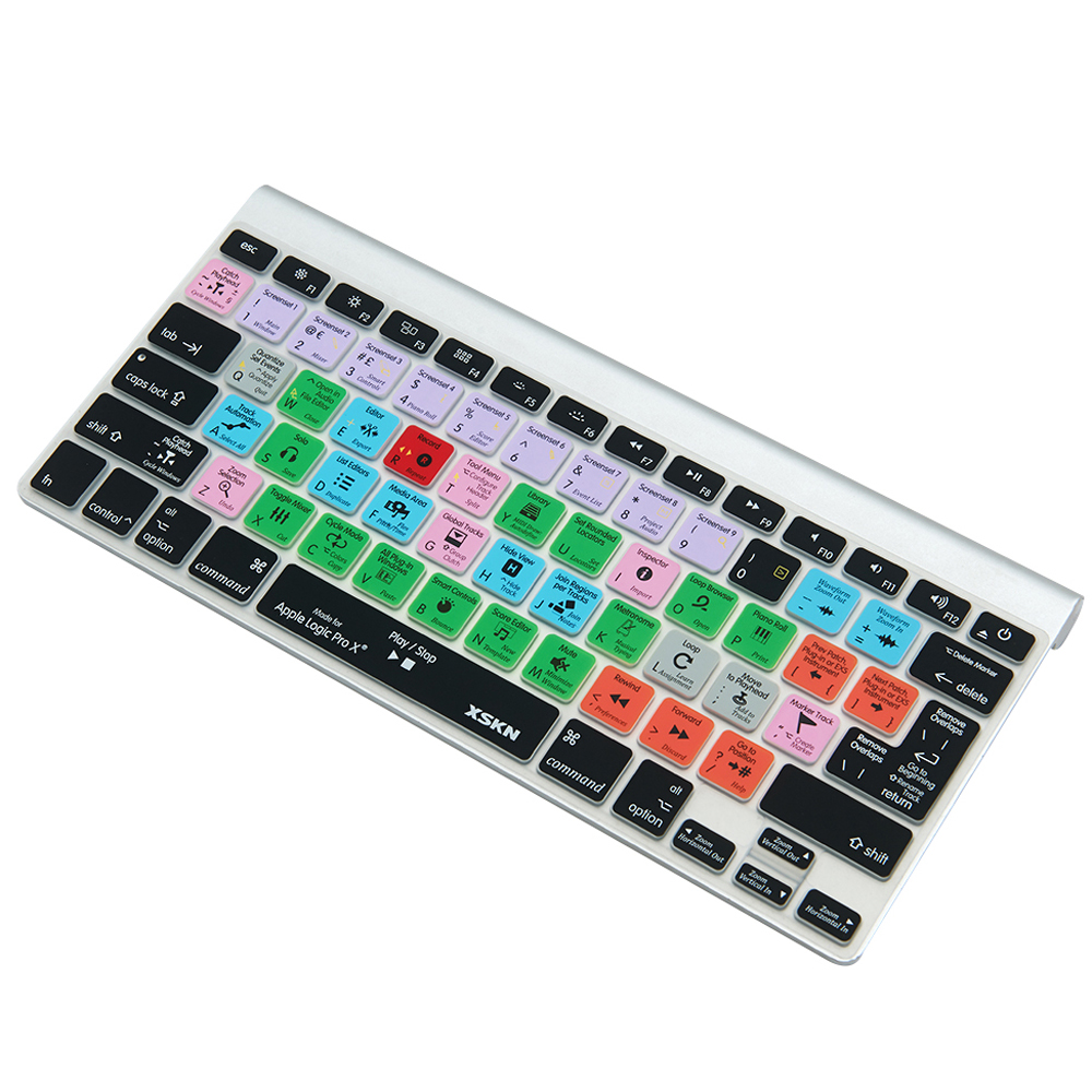 for Logic Pro X 10 Functional Shortcut Silicone Keyboard Cover Skin for Macbook Air 13 i ...