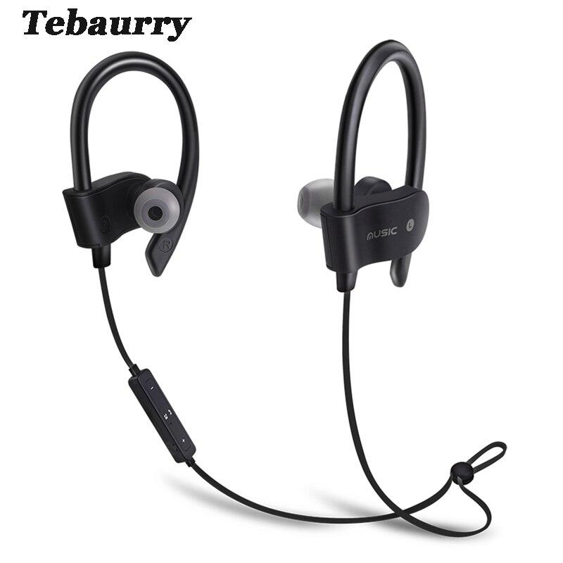 Tebaurry Bluetooth Earphone Wireless Sport Running Bluetooth Headset Bass Earbuds Wireless Headphone With Microphone for phone