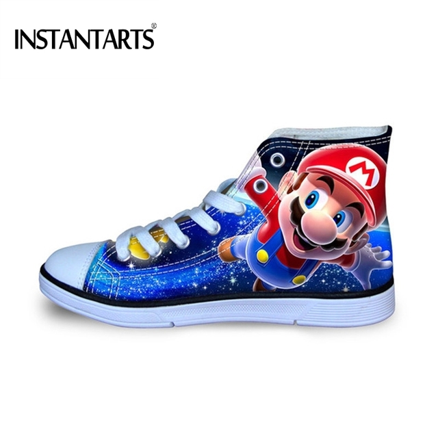 4702f0bcc2cca9 INSTANTARTS-Anime-Games-Blue-Super-Mario-Pattern-Kids-Casual-Shoes -Breathable-Summer-High-Top-Canvas-Shoes.jpg 640x640.jpg