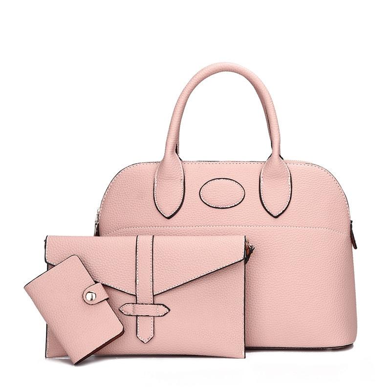 3pcs / set composite bag Simple elegant women handbag High quality leather women bags designer shoulder bag high quality tote bag composite bag 2